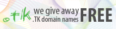 We give away .TK domain names FREE!